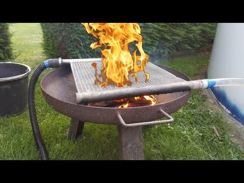 DIY pool heater easy selfmade wood