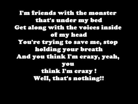 Eminem The Monster ft  Rihanna (Lyrics)