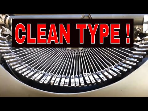 Cleaning Type Slugs Fast ! Removing Clogged Dirty Ink Typewriter Service How to Shine Those Faces