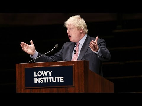 The 2017 Lowy Lecture: UK Foreign Secretary Boris Johnson