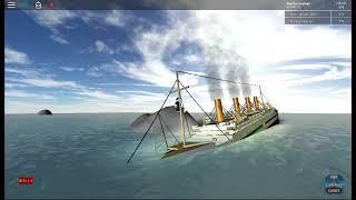 Roblox H.M.H.S Britannic sinking - part 1 (Lil' Ships)