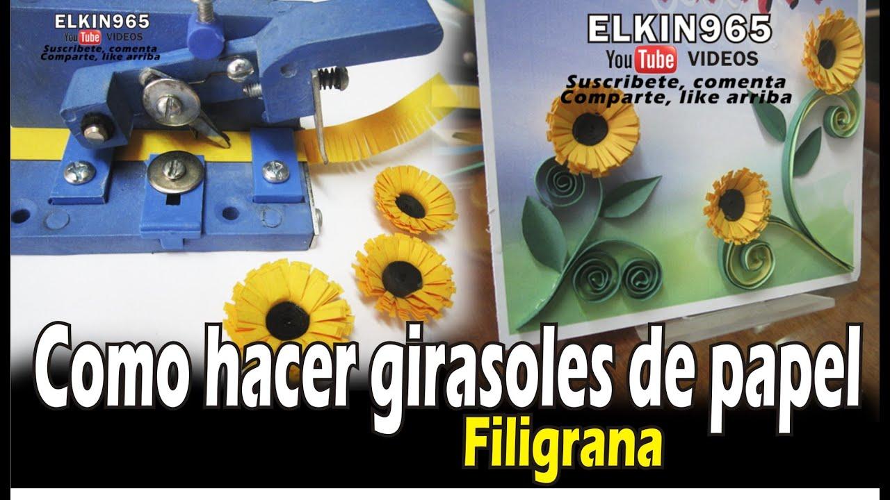 Como hacer Girasoles en filigrana by elkin965