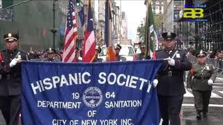 Agentes de Almería desfilan en el Día de la Hispanidad en Nueva York