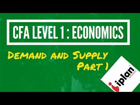 CFA Level 1 Economics - Demand and Supply Analysis - Part 1