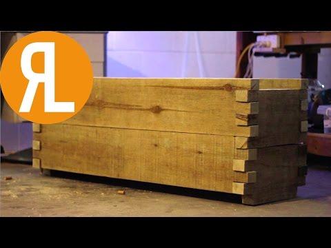 Wood Planter Box | No Glue, No Screws, No Nails
