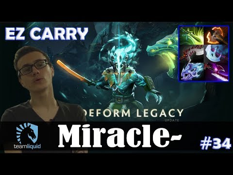Miracle - Juggernaut Safelane | EZ CARRY 7.15 Update Patch | Dota 2 Pro MMR Gameplay #34