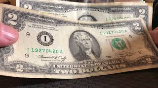 $2 Dollar Bill Bonanza! Oldies, Errors, and Serial/Date Trinary Radar???
