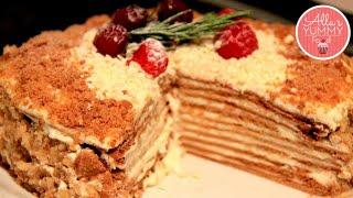 """Honey Cake Recipe, Medovik Recipe - Медовый торт, Невероятно вкусный """"Медовик"""""""