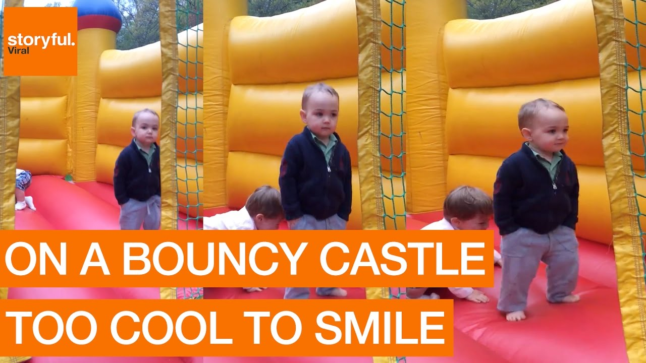 Two Year Old Boy Is Too Cool For Bounce House Storyful