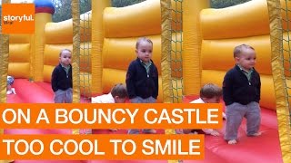 Two-Year-Old Boy is Too Cool for Bounce House (Storyful, Kids)