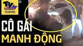 Cô gái bất chấp 'LAO ĐẦU' về phía xe hơi trước sự ngăn chặn của đám thanh niên nam nữ đi cùng