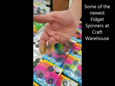 Newest Fidget Spinners At Craft Warehouse Youtube