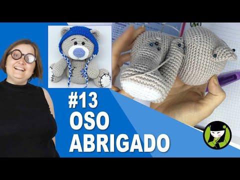 OSO NAVIDEÑO AMIGURUMI 13 oso tejido a crochet