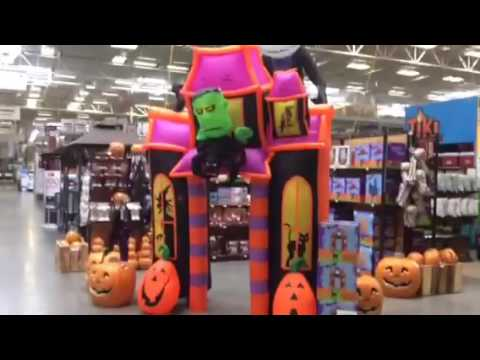 vlog challenge day 8 lowes halloween 2016 081216 - Lowes Halloween