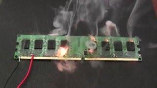 Как горят комплектующие - компы, процессоры, память, платы