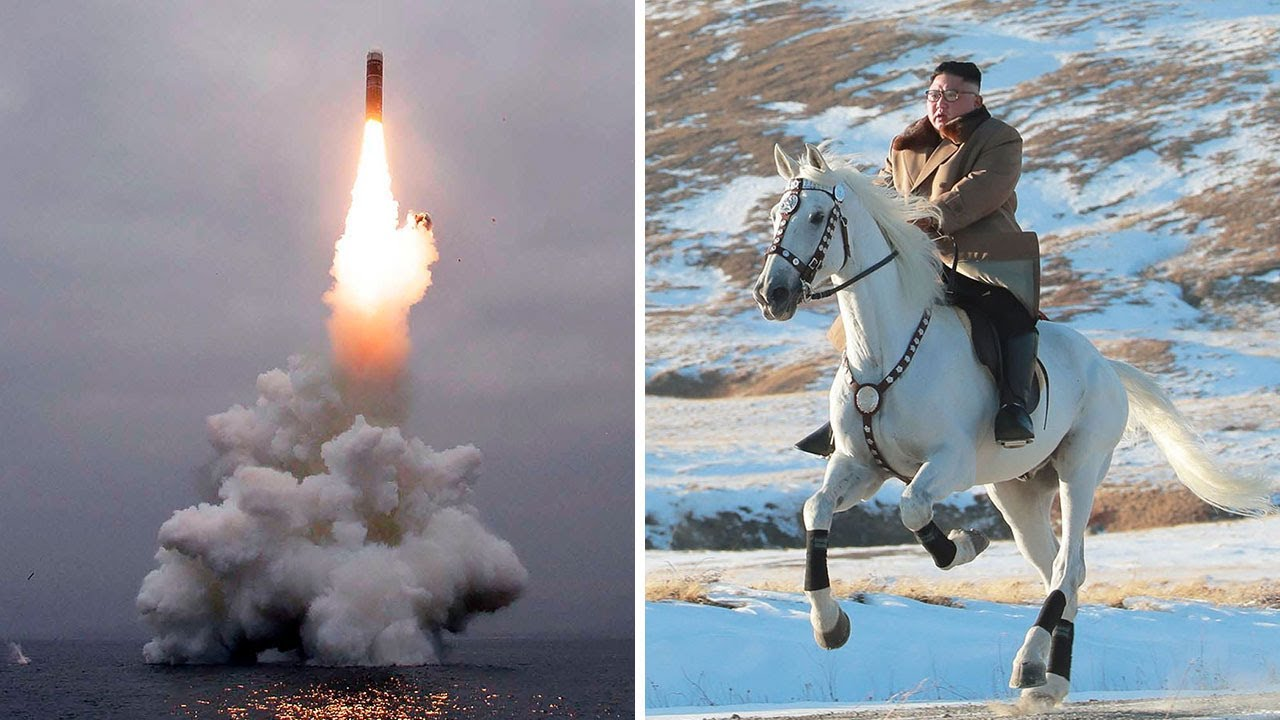 1 Man 1 Horse Video Link north korea state tv broadcasts kim jong-un riding white horse into the  mountains