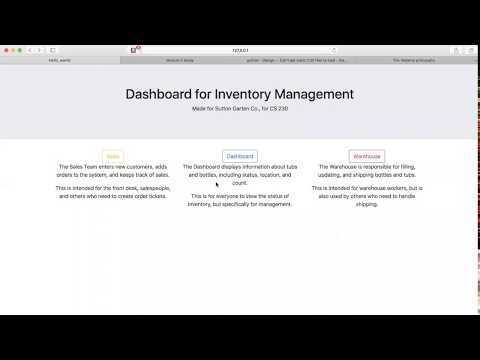 Django Inventory and Shipping App Demonstration