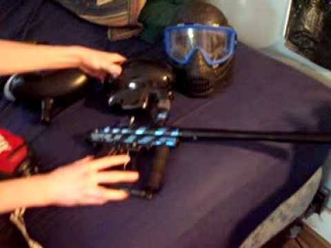 Sick Paint Job On Paintball Gun Review Youtube