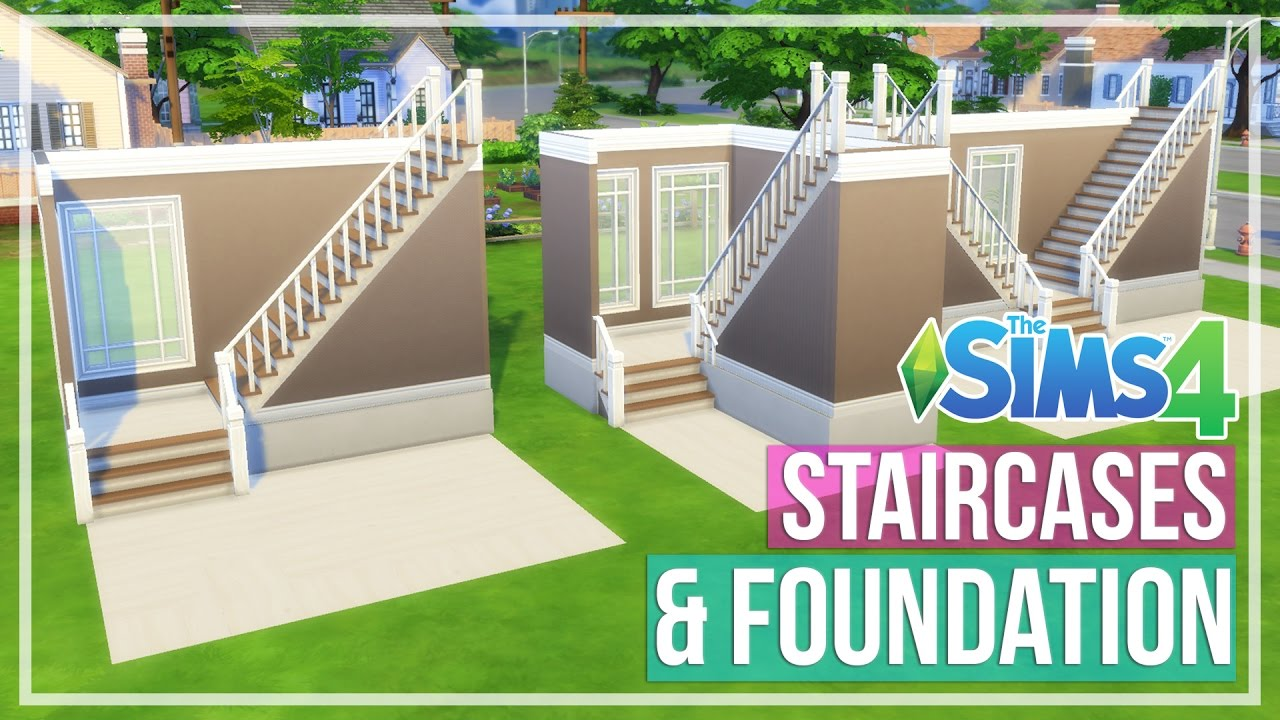 The Sims 4 Staircases Foundation Youtube | Sims 4 Stair Railing One Side | Stair Case | Build | Shaped Stairs | Spindles | Steel Handrail