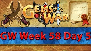 ⚔️ Gems of War Guild Wars | Week 58 Day 5 | Red GW and Deathknight Leveling ⚔️