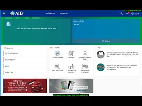How To Use AIB Internet Banking