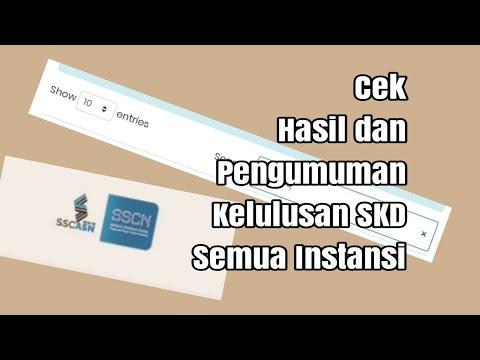 Cara Cek Kelulusan dan Hasil Tes SKD CPNS 2019 Semua ...