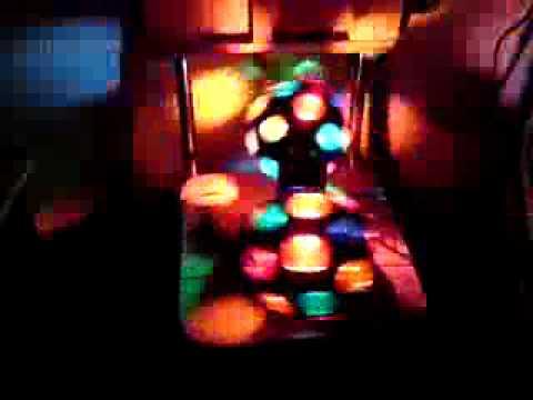 Esferas giratorias con luces de colores tipo discoteque - Bola de discoteca de colores ...