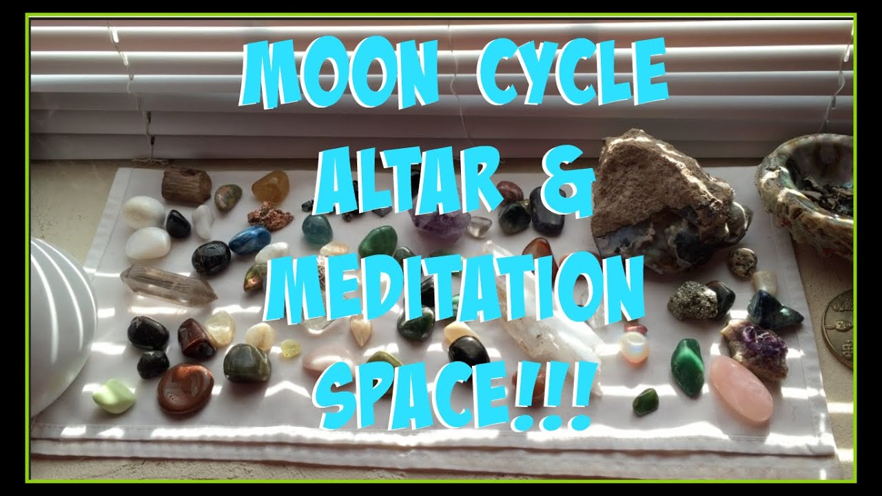 New Moon Altar Meditation Space Set Up Youtube