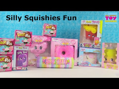 Silly Squishies Squishy Palooza Poo Curly Fries Tarts Blind Bag Toy Review | PSToyReviews