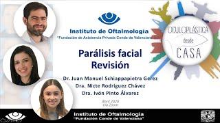 Parálisis facial, Dr. Juan Manuel Schiappapietra, Dra. Nicte Rodríguez, Dra. Ivon Pinto.