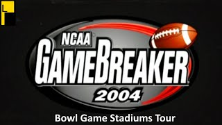 NCAA Gamebreaker 2004 Bowl Game and Fictional Stadiums