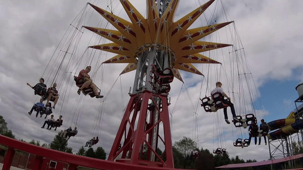 Wonder Woman Lasso Of Truth Swing Ride At Six Flags America