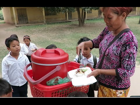 Breakfast for Primary School Student at Koh Dach Island in Cambodia