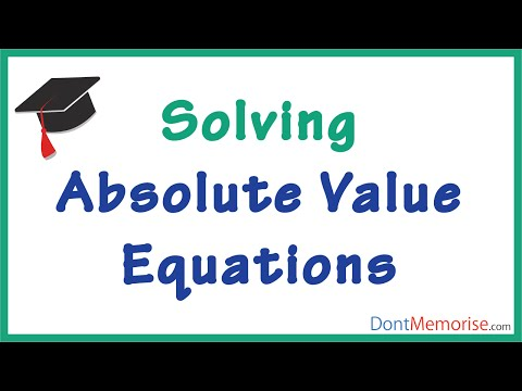 Solving Equations with Absolute Value ( GMAT / GRE / CAT )
