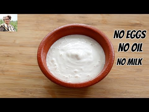 Oil Free & Eggless Mayonnaise In 1 Minute How To Make Homemade Mayonnaise In A Mixie/Mixer Grinder