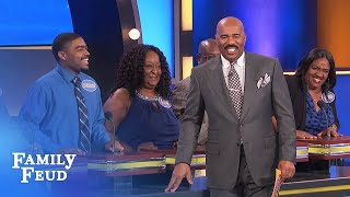 Cameron ain't no chicken! | Family Feud