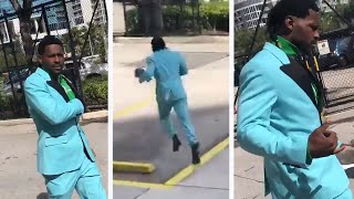 Antonio Brown Leaves Court, Tries To Run From Media But Goes Wrong Way, Stays SILENT!
