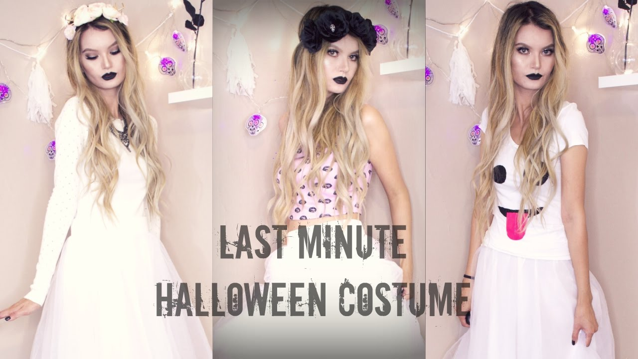 DIY Last Minute Halloween Costume | Ghost, Deer & Dark Princess