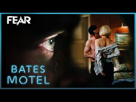 Norman Watches Norma Through a Peephole | Bates Motel