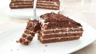 Торт шоколадный со сметанным кремом Рецепт простого и вкусного торта