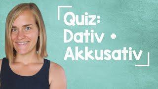 German Lesson (59) - QUIZ: Akkusativ + Dativ - 87 Questions - A1/A2