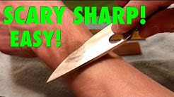 DON'T BUY EXPENSIVE JAPANESE WATER STONES, knife sharpening system easy and cheap