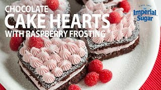 How To Make Chocolate Cake Hearts
