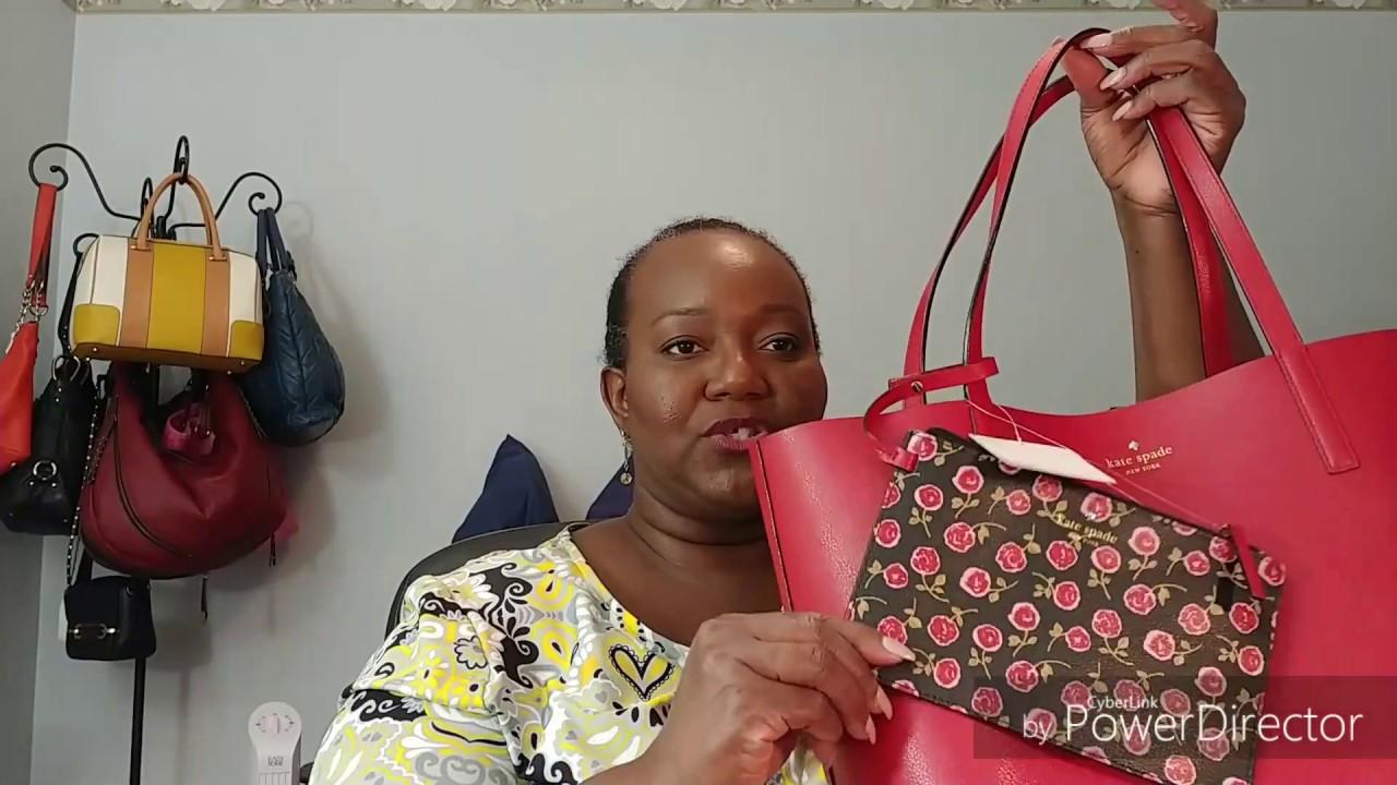 8aae9272e3318 Kate Spade Floral Mya Reversible Tote - YouTube