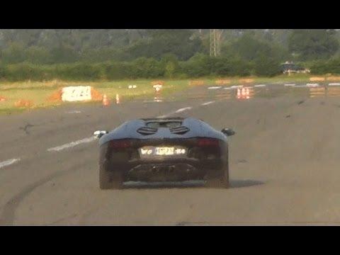 Drag Race Bmw I8 Vs Lamborghini Aventador Lp700 4 Roadster W