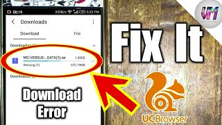 How to solve uc browser download error in tamil