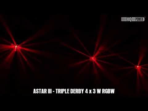 ASTAR III - TRIPLE DERBY 4 x RGBW 3 W - DMX