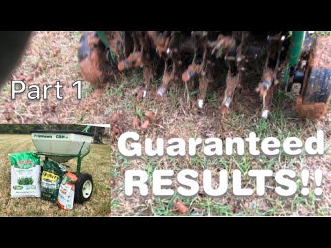 Bermuda Lawn Aeration-Over Seeding Guaranteed Results