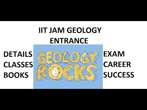 IIT JAM GEOLOGY ENTRANCE TUITION CLASSES ONLINE LECTURES EXA