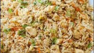 Chicken fried rice and tasty red chicken restaurant style Chinese recipe quick and easy and tasty re